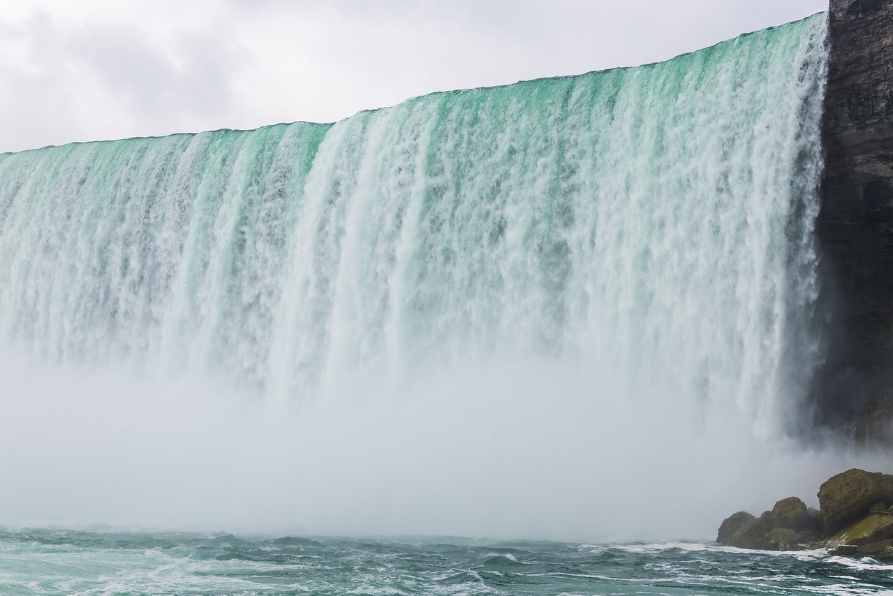 Getting really close to the Horseshoe Falls
